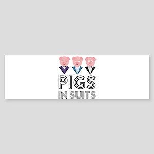 Pigs in Suits Cw435 Bumper Sticker