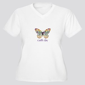 Earth Day - Butterfly Women's Plus Size V-Neck T-S