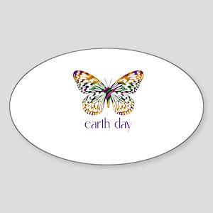 Earth Day - Butterfly Oval Sticker