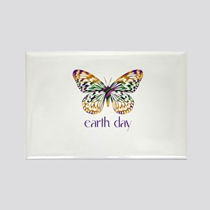 Earth Day - Butterfly Rectangle Magnet