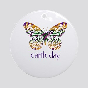 Earth Day - Butterfly Ornament (Round)