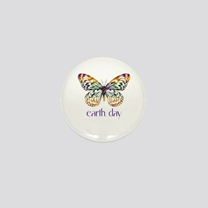 Earth Day - Butterfly Mini Button