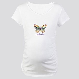 Earth Day - Butterfly Maternity T-Shirt