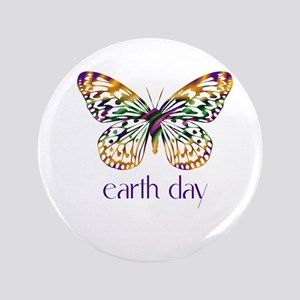 """Earth Day - Butterfly 3.5"""" Button"""