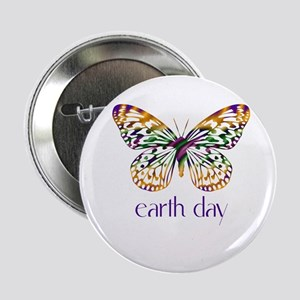"Earth Day - Butterfly 2.25"" Button"