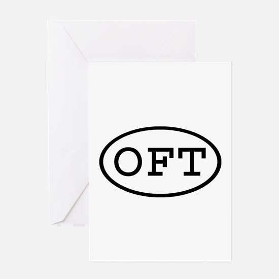 OFT Oval Greeting Card
