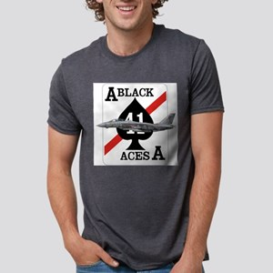 F-14 Tomcat VF-41 Black Aces Ash Grey T-Shirt