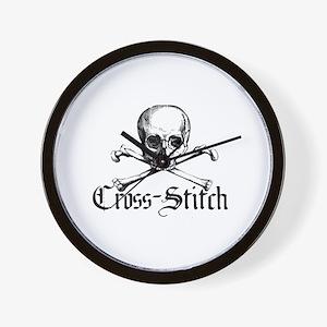 Cross-Stitch - Skull & Crossb Wall Clock