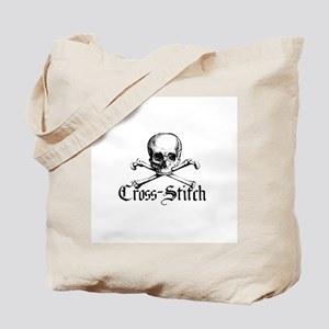 Cross-Stitch - Skull & Crossb Tote Bag
