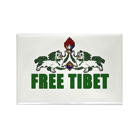 Free Tibet with Lions Rectangle Magnet (10 pack)
