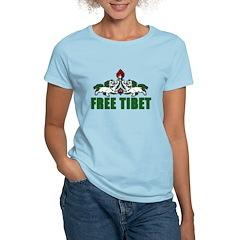 Free Tibet with Lions Women's Light T-Shirt