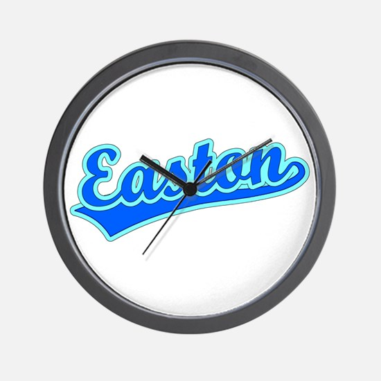 Retro Easton (Blue) Wall Clock