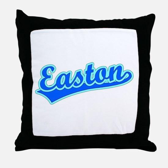 Retro Easton (Blue) Throw Pillow
