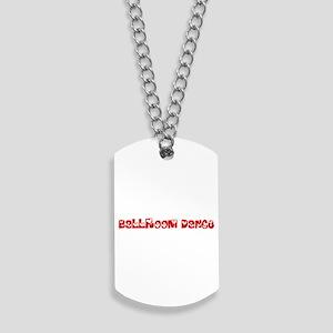 Ballroom Dance Heart Design Dog Tags