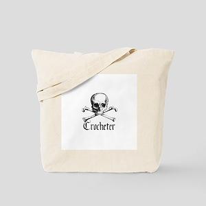 Crocheter - Skull & Crossbone Tote Bag