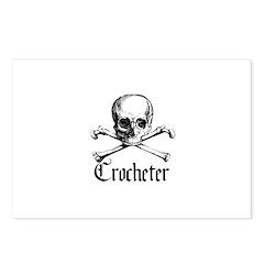 Crocheter - Skull & Crossbone Postcards (Package o
