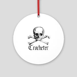 Crocheter - Skull & Crossbone Ornament (Round)