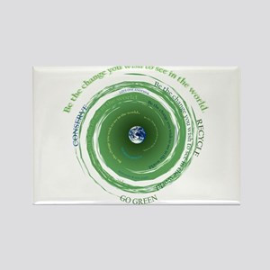 Be the Change - Recycle Rectangle Magnet
