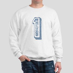 Blue Number 1 Birthday Sweatshirt