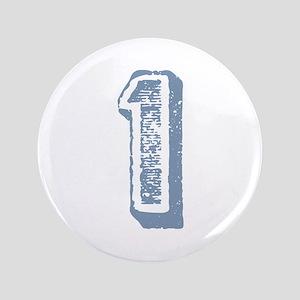 "Blue Number 1 Birthday 3.5"" Button"