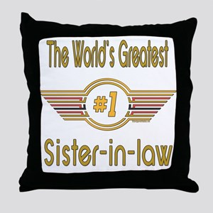 Number 1 Sister-in-law Throw Pillow