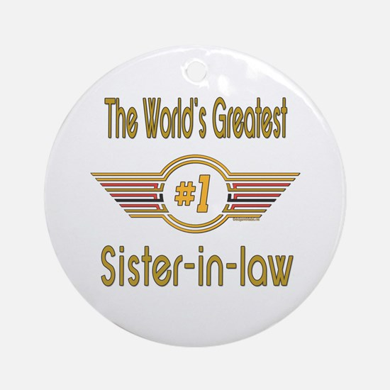 Number 1 Sister-in-law Ornament (Round)