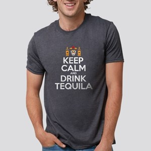 Keep Clam & Drink Tequila Sugar Skull Cinc T-Shirt