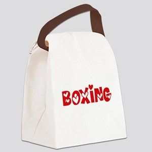 Boxing Heart Design Canvas Lunch Bag