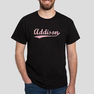 Vintage Addison (Pink) Dark T-Shirt