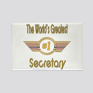 Number 1 Secretary Rectangle Magnet