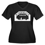 RWT Women's Plus Size V-Neck Dark T-Shirt