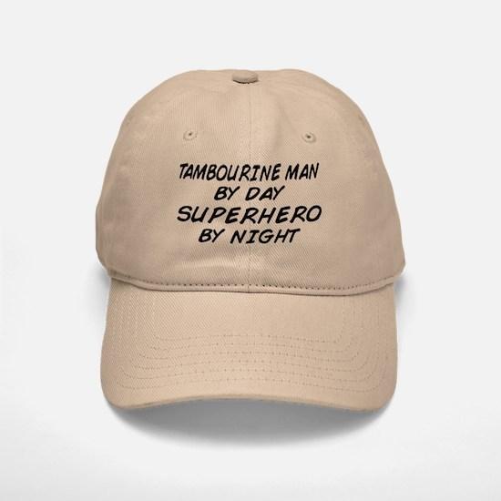 Tambourine Man Superhero by Night Baseball Baseball Cap