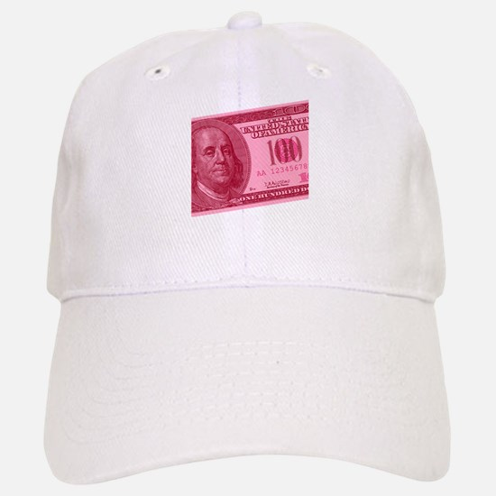Pink Hundred Dollar Bill Baseball Baseball Cap