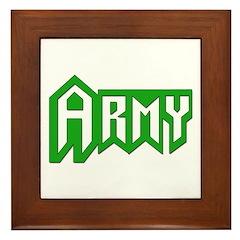 Army Framed Tile