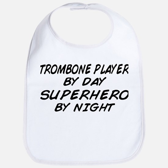 Trombone Plyr Superhero by Night Bib