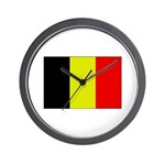 Large Belgian Flag Wall Clock
