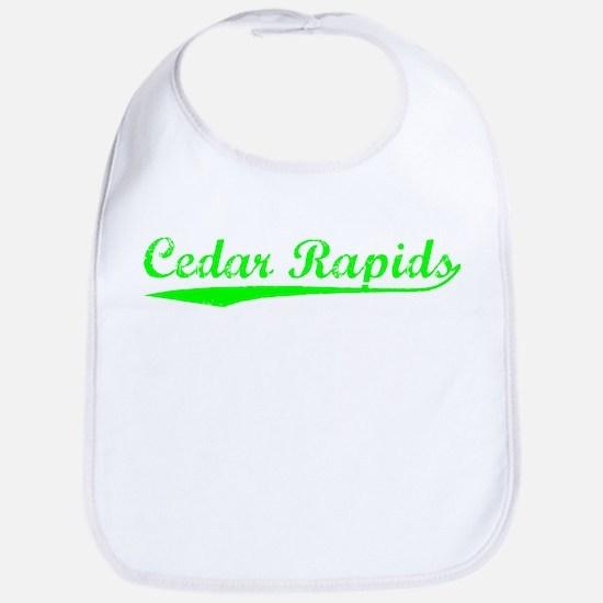 Vintage Cedar Rapids (Green) Bib