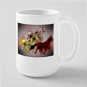 FUN Large Mug WITH RUNNING HORSES