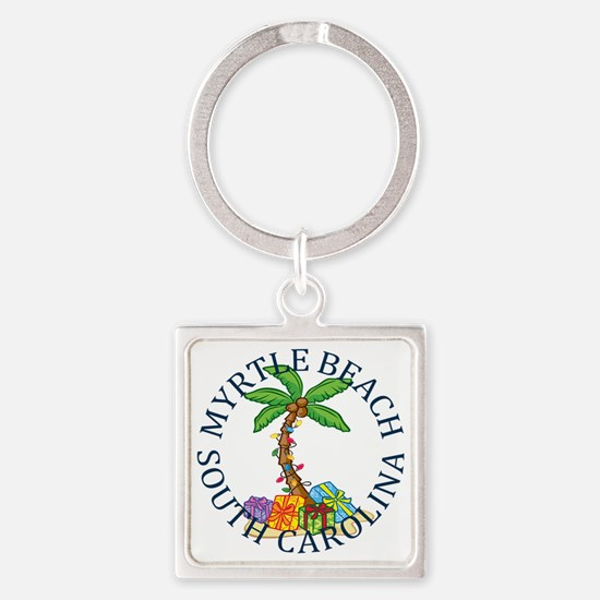 Funny Myrtle beach Square Keychain