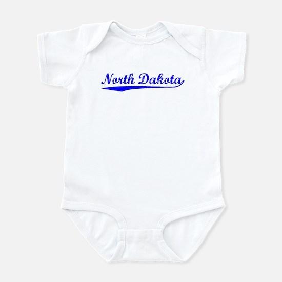 Vintage North Dakota (Blue) Infant Bodysuit
