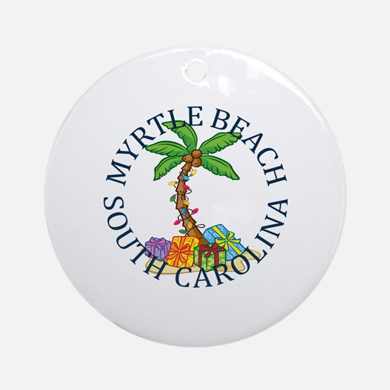 Unique Myrtle beach Round Ornament