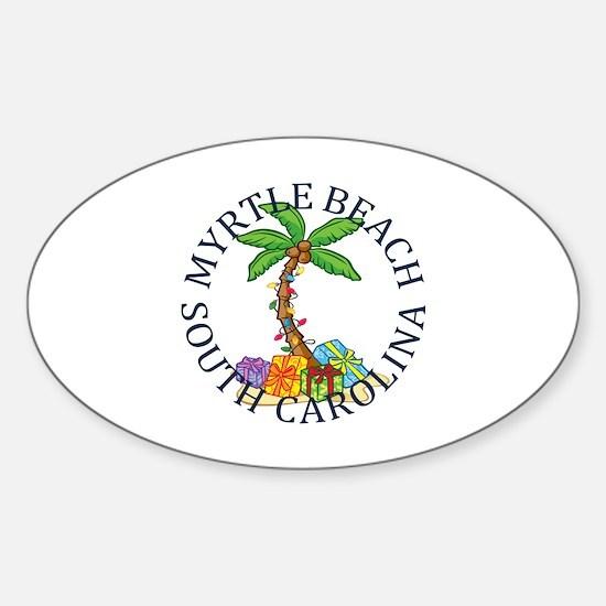 Cute Pawleys island Sticker (Oval)
