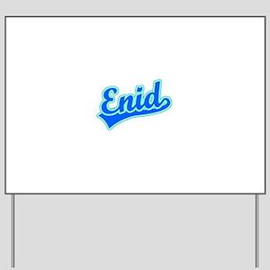 Retro Enid (Blue) Yard Sign