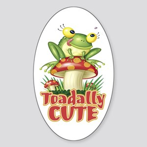 Toadally Cute Oval Sticker