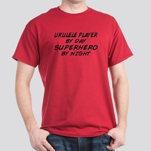 Ukulele Plyr Superhero by Night Dark T-Shirt