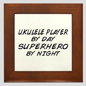 Ukulele Plyr Superhero by Night Framed Tile