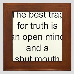 Truth trap Framed Tile