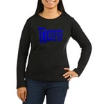 Navy Women's Long Sleeve Dark T-Shirt