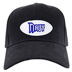 Navy Black Cap