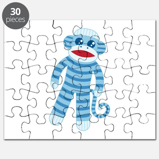 Blue Sock Monkey Puzzle